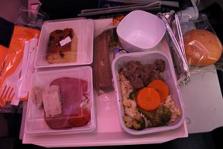 A meal on the Aeroflot flight from Vladivostok to Moscow