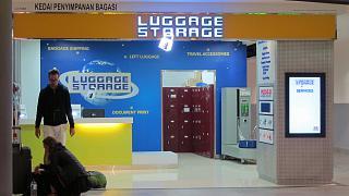 Камера хранения в лоукост-терминале KLIA2 аэропорта Куала-Лумпур