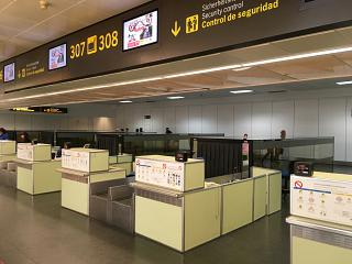 Reception at the airport of Gran Canaria