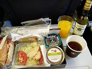 Питание не рейсе Стамбул-Киев Турецких авиалиний