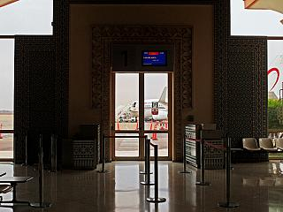 The gate at the airport of Agadir al Massira