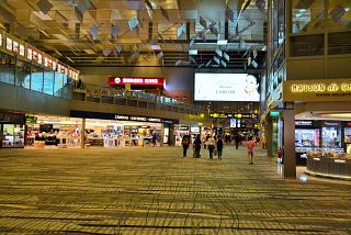 In terminal 3 of Singapore Changi airport