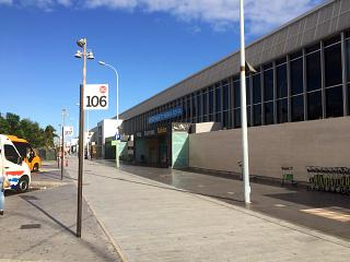 The passenger terminal of the airport of Tenerife South