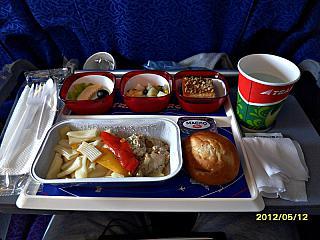 Питание на рейсе Трансаэро Южно-Сахалинск-Москва