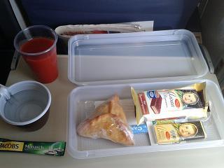 Питание на рейсе Бугульма-Москва авиакомпании  ЮВТ-аэро