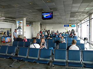 The waiting room in a clean area of the airport of Ulan-Ude