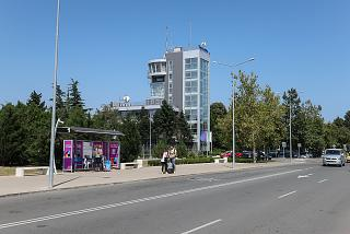 The control tower of the airport of Burgas