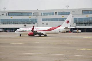Boeing-737-800 operated by Air Algerie to Brussels airport