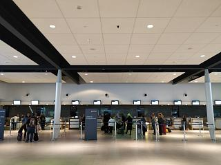 The reception area at the airport Toronto city