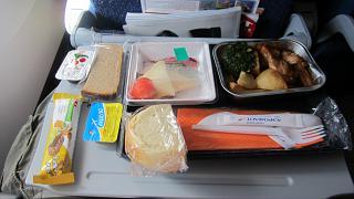 Питание на рейсе Аэрофлота Красноярск-Москва