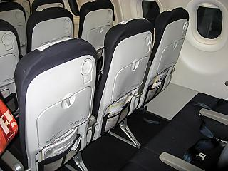 The passenger seats in the Airbus A320 Air France