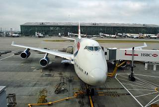 Boeing-747-400 British Airways at terminal 5 London Heathrow airport