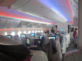 The business-class-Boeing-787-8 Qatar Airways