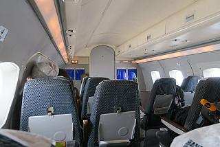 The passenger cabin of Yak-40 of the Vologda aviation enterprise