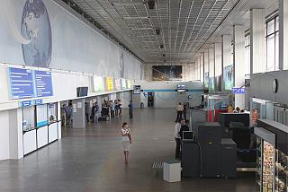 In the terminal building of the airport Krasnoyarsk Emelyanovo