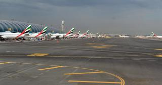 The airport apron of Dubai