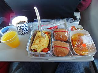 Flight meals on the flight Casablanca-Paris Air France