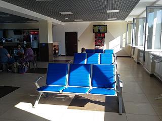 Зал ожидания на втором этаже аэропорта Калуга