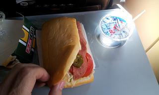 Сэндвич на борту AirAsia Денпасар-Джакарта