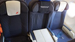Business class in the Airbus A321 of Air France