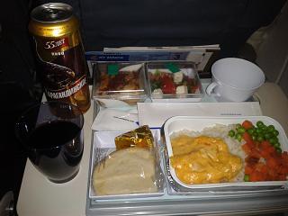 Питание на рейсе Air Astana Москва-Алматы