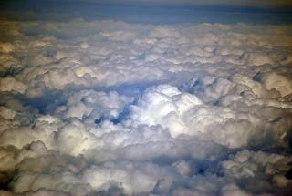 Clouds during the flight Vladivostok-Moscow