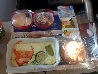 Питание на рейсе Москва-Пафос авиакомпании Трансаэро