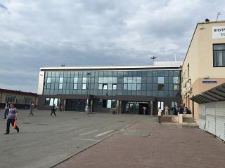 Временный сектор внутренних авиалиний в аэропорту Тюмень Рощино