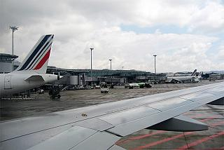 The aircraft of Air France at the airport of Marseille Provence
