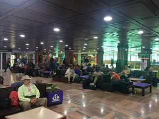 The waiting room at the Kathmandu airport