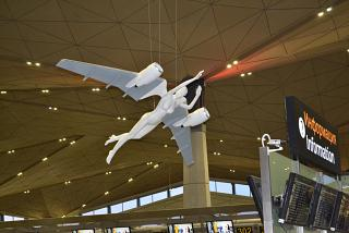 """Flying angel"" in the new terminal of Pulkovo airport"
