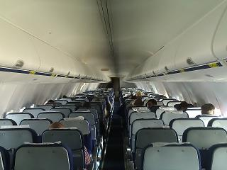 The cabin of the aircraft Boeing-737-800 Orenburg airlines
