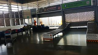 The baggage claim area at the airport Seymour