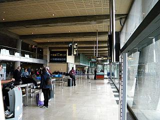 In the terminal building of Tenerife North airport