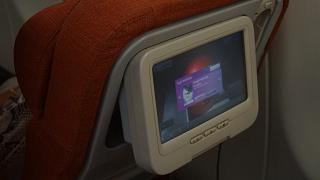 Monitor entertainment system in the Airbus A330-200 Aeroflot