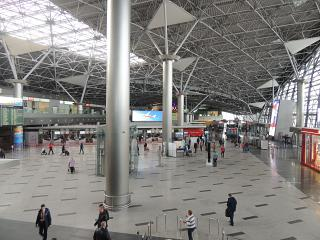 The hall of terminal A of Vnukovo airport