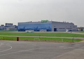 The passenger terminal of the airport Zhukovsky airside