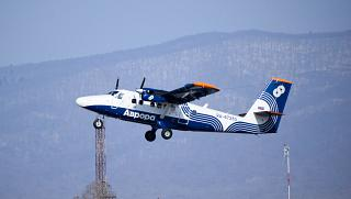 Aircraft DHC-6-400 Twin Otter, RA-67283 (Vladimir Saibel) takes off at the airport of Vladivostok