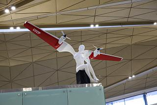 The figure of the angel in the new terminal of Pulkovo airport