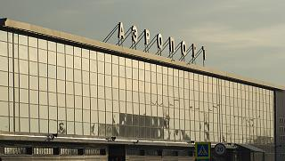 The terminal of the airport of Irkutsk