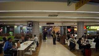 Cafe in a clean area of Lisbon Portela airport