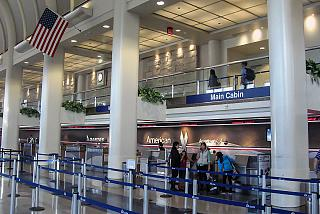 Reception to American Airlines in Terminal 4 airport Los Angeles