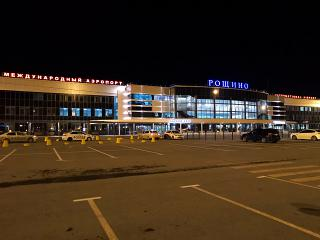 The terminal of international airport Tyumen Roschino