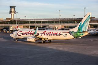 Boeing-737-800 9Y-GEO airlines Caribbean Airlines at the airport Toronto Pearson international