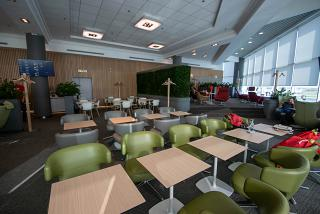 The business lounge S7 in airport Moscow Domodedovo