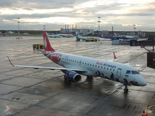 Embraer 190 of the airline Buta Airways Vnukovo airport