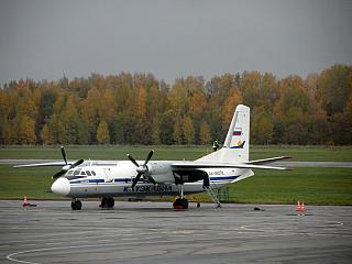 An-24 Katekavia at the airport of Ufa