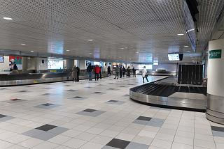 The baggage claim area of domestic airlines at Domodedovo airport