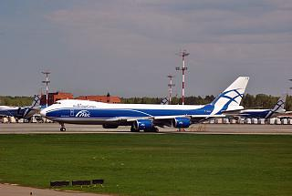 "Boeing 747-8F airline ""Air Bridge Cargo"" at the airport Sheremetyevo"