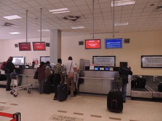 The reception at the Colombo airport Bandaranaike international